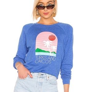 Wildfox Turks and Caicos Fiona Crew Sweater Top